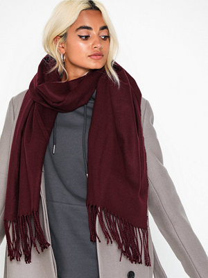 NLY Accessories Classy Solid Scarf Burgundy