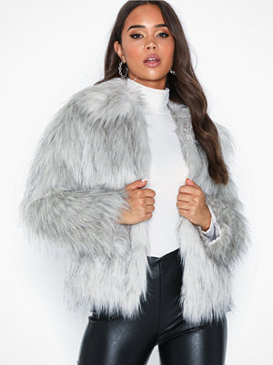 Topshop Tipped Faux Fur Coat
