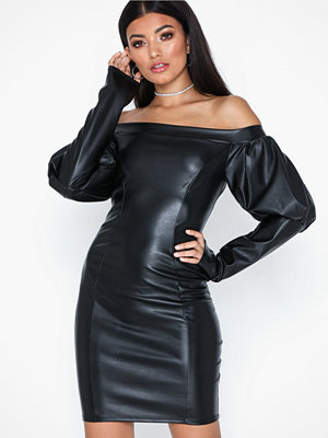 NLY One Volume Sleeve PU Dress