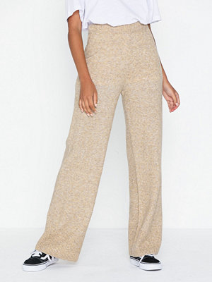Pieces omönstrade byxor Pchoney Wide Knit Pants