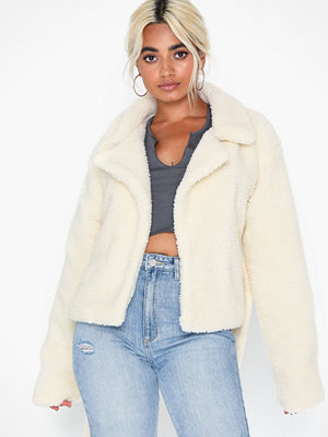 Fuskpälsjackor - Missguided Cropped Self Belted Coat
