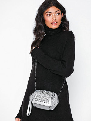 NLY Accessories vit axelväska Studded Bling Bag