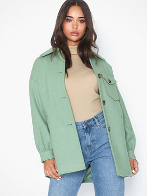 Topshop Sage Shacket With Wool
