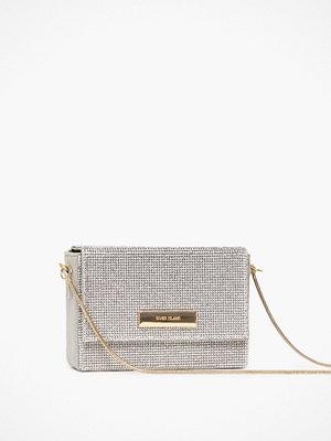 River Island ljusgrå axelväska Heatseal Boxy Bag