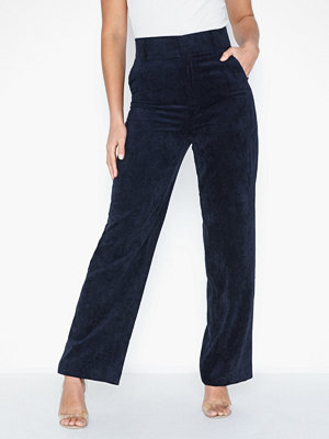Gina Tricot marinblå byxor Laura Corduroy Trousers