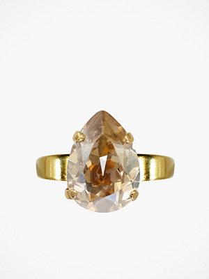 Caroline Svedbom Mini drop ring Light Peach