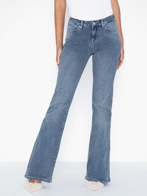 Selected Femme Slfchloe Mw Mid Blue Flare Jeans Ex