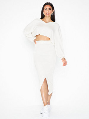 Missguided Tie Split Midi Skirt Co Ord