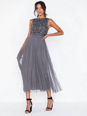 Maya Delicate Sequin Overlay Dress