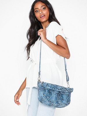 Unlimit mönstrad axelväska Shoulder Bag Emily Blå