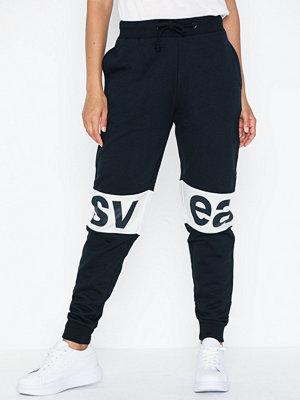 Svea svarta byxor med tryck 2 Col Big Svea Logo Sweat Pants