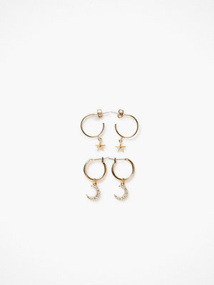 Pieces örhängen Pcamoona Hoop Earrings 2-Pack D2D
