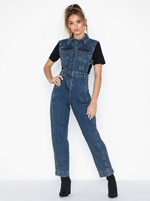 Jumpsuits & playsuits - Topshop Sleeveless Denim Jumpsuit