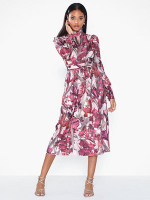 Little Mistress Long Sleeve High Neck Dress