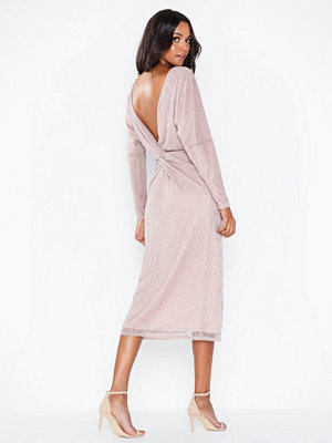NLY Eve Twisted Back Pleated Dress
