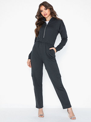 Jumpsuits & playsuits - NLY Trend Cargo Sweat Jumpsuit