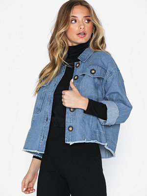 River Island Denim Crop Shacket