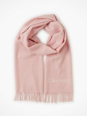 Calvin Klein Classic Wool Scarf W Rosa