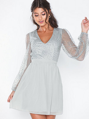 Festklänningar - NLY Eve Ritzy Glitter Skater Dress