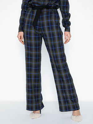co'couture marinblå rutiga byxor Mardi Check Pant