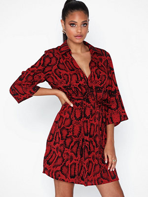 Ax Paris V Neck Snake Print Dress
