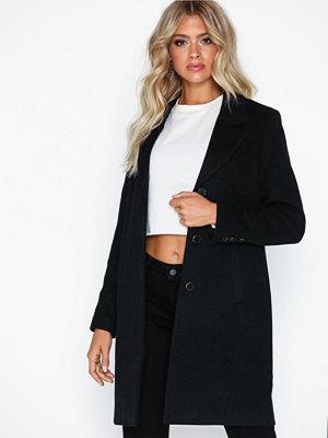 Selected Femme Slfsasja Wool Coat B Noos Svart