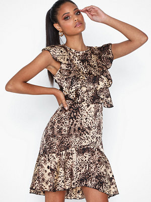 Ax Paris Leopard Flounce Dress