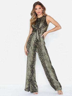 Ax Paris Snake Print Jumpsuit