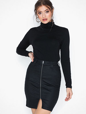 Lee Jeans High Waist Zip Skirt