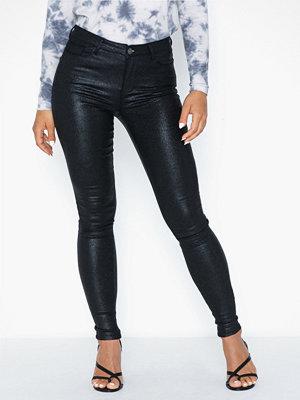 Vila svarta byxor Vicommit Rw Glitter Coat Jeans/2