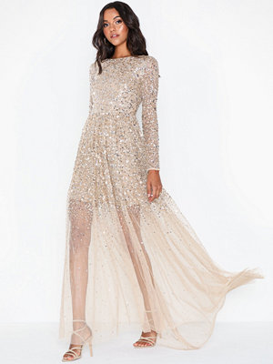 Maya Sequin Scoop Back Maxi