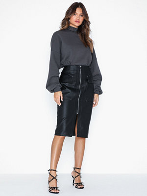 River Island Front Pocket PU Pencil