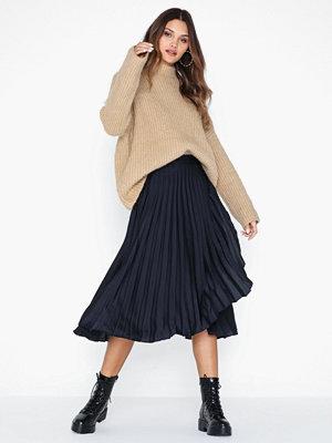 Kjolar - Neo Noir Ritt Plisse Skirt