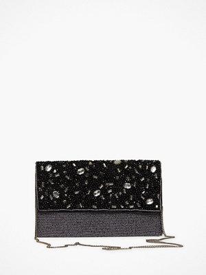 Glamorous mönstrad kuvertväska Black Shimmering Wristlet