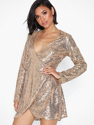NLY Trend Wrap Sequin Dress