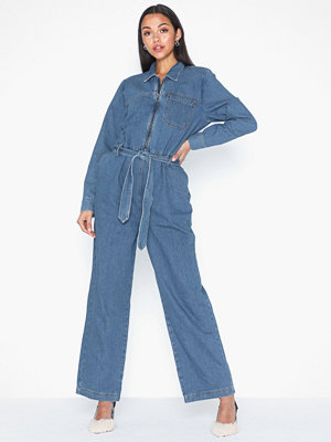 Jumpsuits & playsuits - Selected Femme Slfdana Mid Blue Denim Jumpsuit Ex