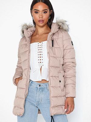 Only onlNORTH Nylon Coat Cc Otw Ljus Rosa