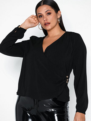 NLY Trend Fancy Button Wrap Blouse