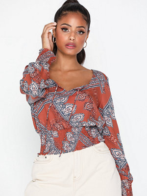 Only Onldiana L/S Cropped Top Wvn