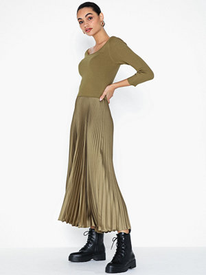 Polo Ralph Lauren Ribbed Boatneck Midi Dress