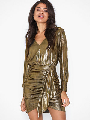 River Island Metallic Shirt Dress