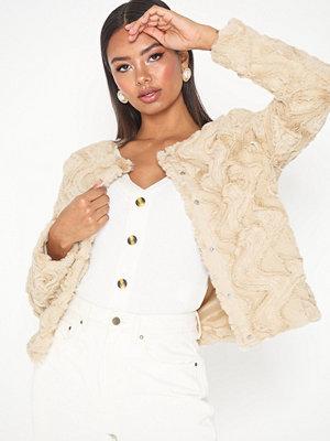 Fuskpälsjackor - Vero Moda Vmcurl Short Faux Fur Jacket Col