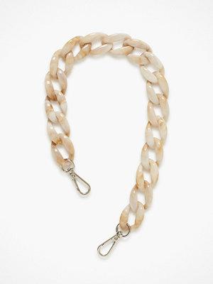 hvisk omönstrad axelväska Chain Handle