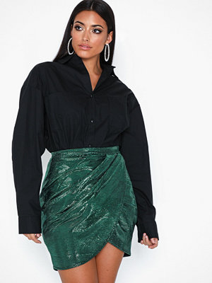 NLY One Metallic Wrap Skirt