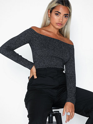 NLY Trend Off Shoulder Rib Top