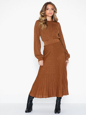 Selected Femme Slfzamba Midi Lurex Knit Skirt B