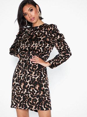 Vero Moda Vmsalina L/S Pleat Short Dress Exp Ljus Grå