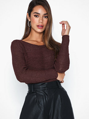 Only onlGEENA Xo L/S Pullover Knt Noos Tawny Port