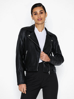 Skinnjackor - Selected Femme Slfkatie Leather Jacket B Noos