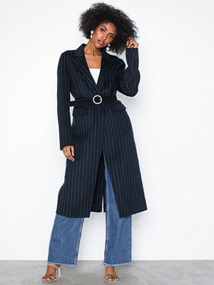 Selected Femme Slflisa Handmade Coat Pin Stripe B
